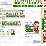 【制作実績】野菜ソムリエ Webサイト アフィリエイト用バナー