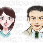 【サンプル】イラスト<手描き系>女性(編集部員)・営業マン