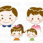 【制作実績】イラスト<ポップ系>4人家族、若い夫婦